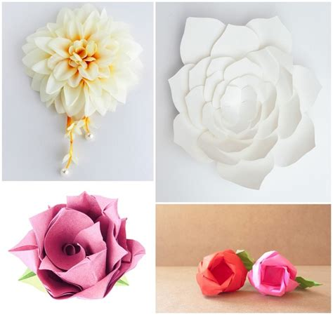 tischdeko papierblumen tischdekoration hochzeit blumenschmuck selber machen