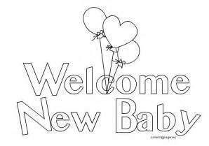New Baby Coloring Book Coloring Pages