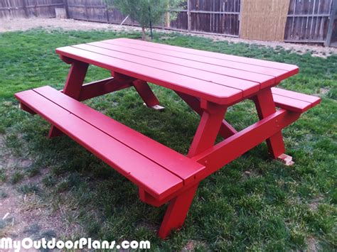 diy  ft picnic table myoutdoorplans  woodworking plans  projects diy shed wooden