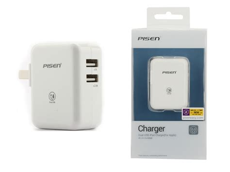 Pisen Tetrad Usb Charger White pisen dual usb 2 4a charger white charger
