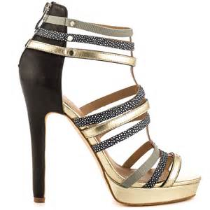 nicole miller tahiti gold black women shoes aemow