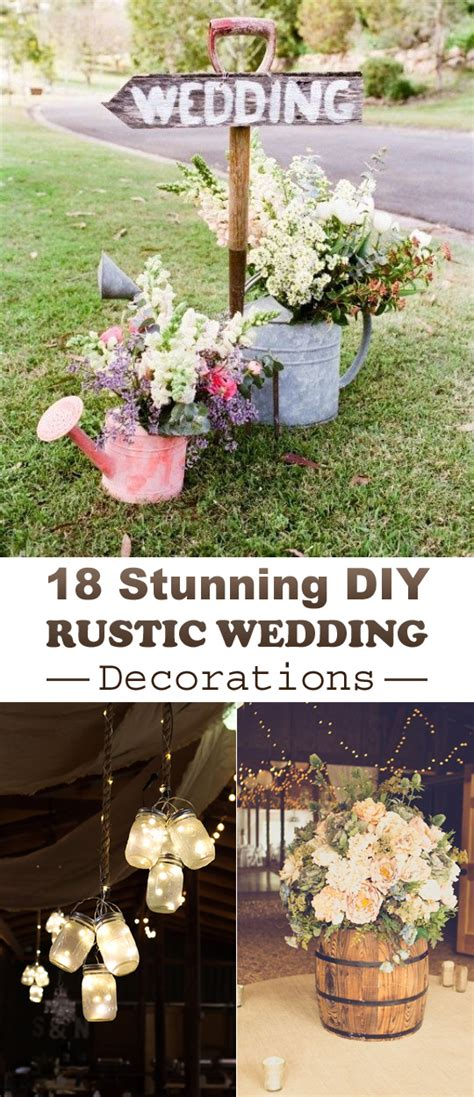 wedding themes and decor 18 stunning diy rustic wedding decorations