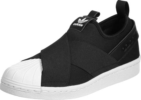 Adidas Slop Black adidas superstar slip on w shoes black white