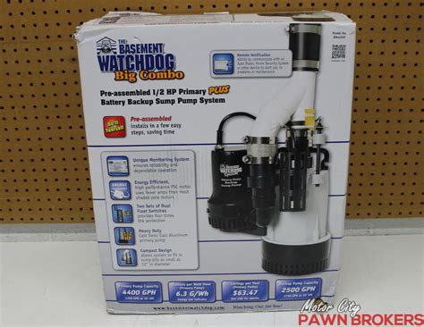 the basement watchdog bw4000 big combo 1 2 hp primary