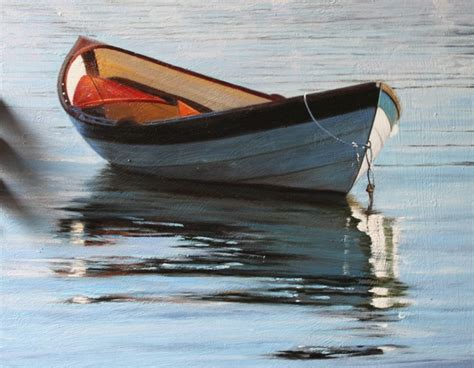 small boat on water small boat above water oil painting op lb4 10 paintings