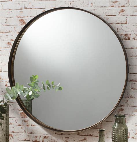 large round bathroom mirror greystoke large bronze round wall mirror 33 quot diameter ebay