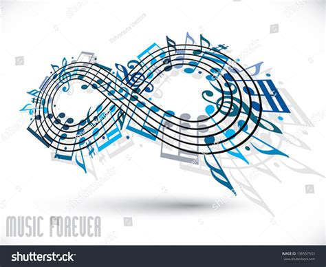 where is infinity made forever concept infinity symbol made stock vector