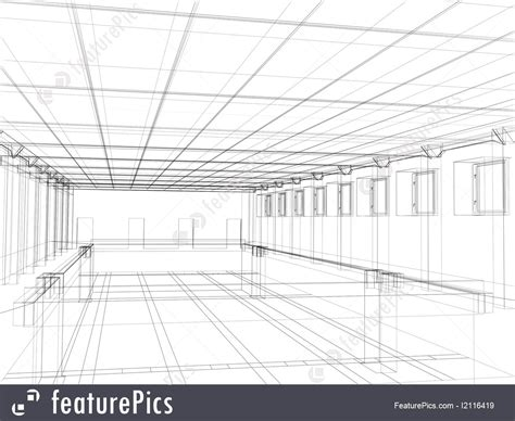 House Plan Creator Picture Of 3d Sketch Of An Interior Of A Public Building