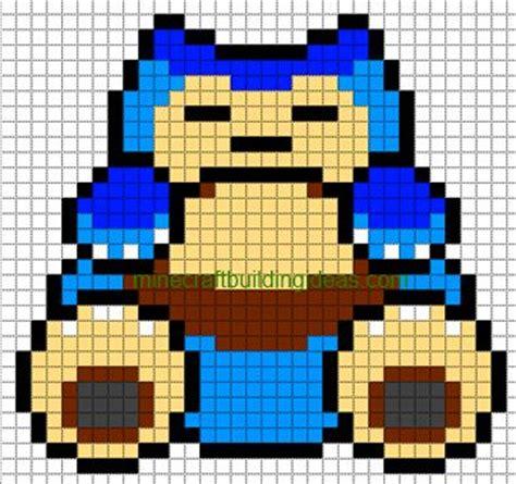 minecraft pixel art templates snorlax minecraft
