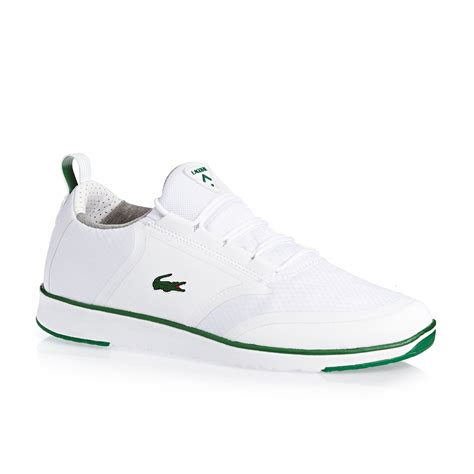 lacoste sneakers lacoste l ight shoes white green free uk delivery on