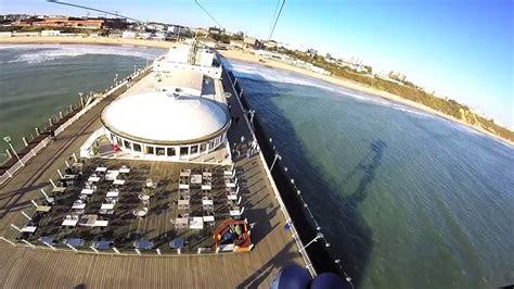 pier zip wire bournemouth pier zip line youtube