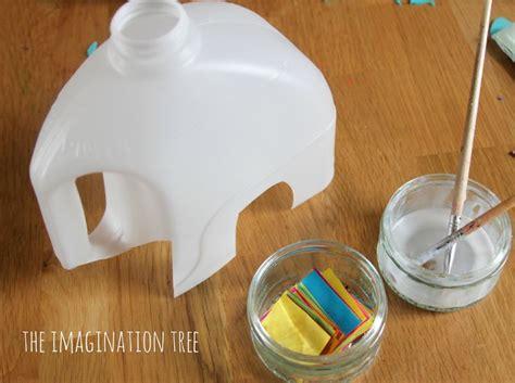 milk jug crafts for milk jug elmer elephant craft crafts milk jug and elephants