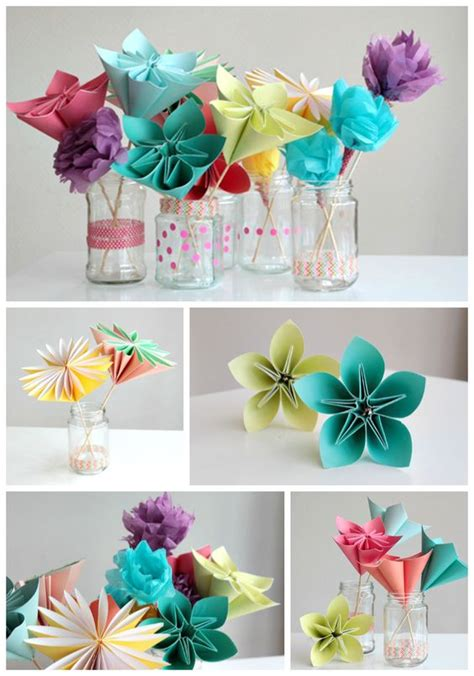 Paper Flower Craft Tutorial - diy paper crafts tutorials ye craft ideas