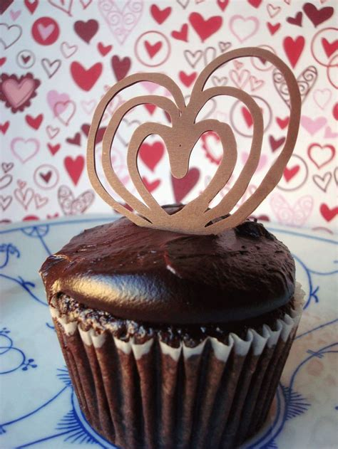 elegant piped chocolate garnishes heart