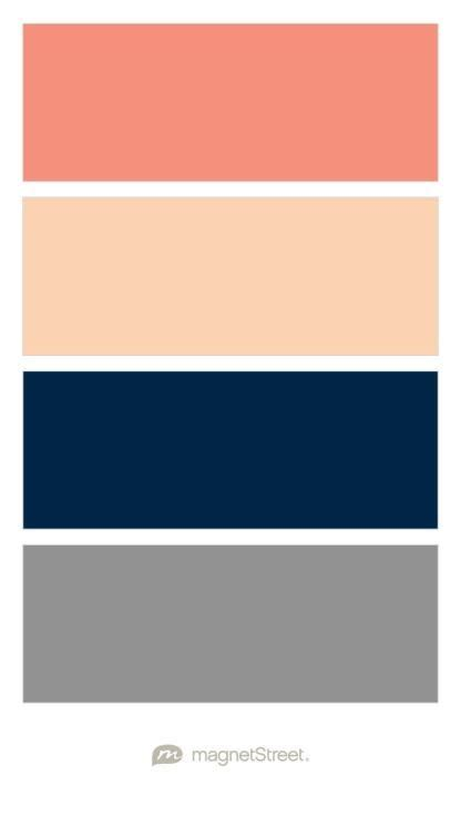image result  color palette blush navy gray coral