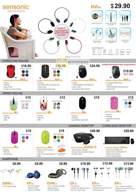 Sensonic M35 mclogic sensonic mouse earphone headset keyboard hvi500 mx200 mx350 mx700 m32 m35 m60 m62 m65