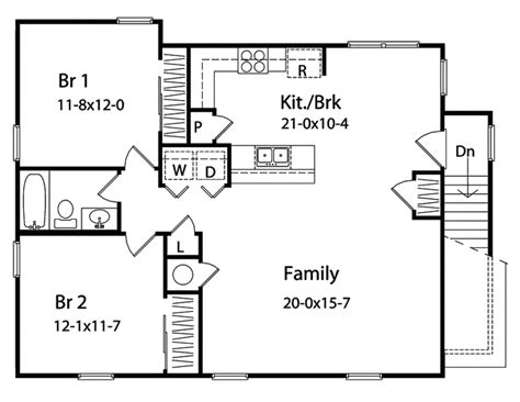 25 x 40 one room cabin plans cabin plans baiting hollow apartment home plan 058d 0140 house plans