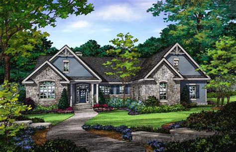 walkout ranch house plan surprising sloped lot plans