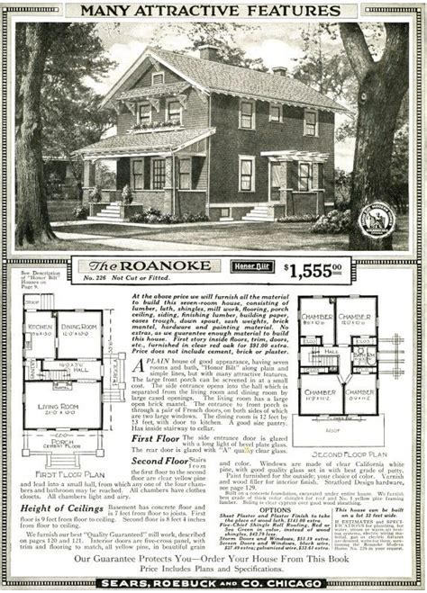 sears kit home plans 171 floor plans the sears roanoke as shown in the 1920 sears modern homes