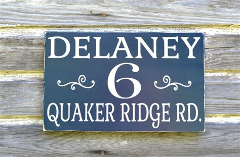 house number sign for l post personalized name address plaque custom house numbers sign