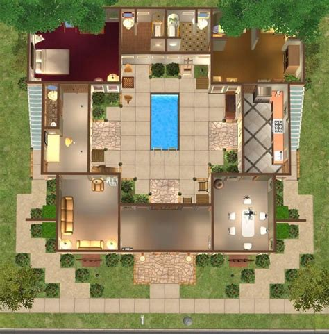 Floor Plans With Courtyard Pin By Alana Clare On Interesting Things For Future Home