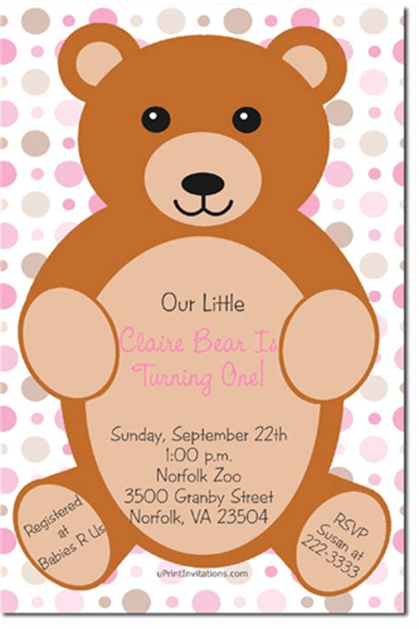 printable birthday cards teddy bear teddy bear birthday invitations any color download jpg