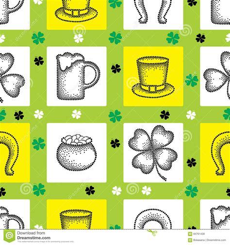 pattern dotted hole leaf green four leaf clover pattern stock image cartoondealer com