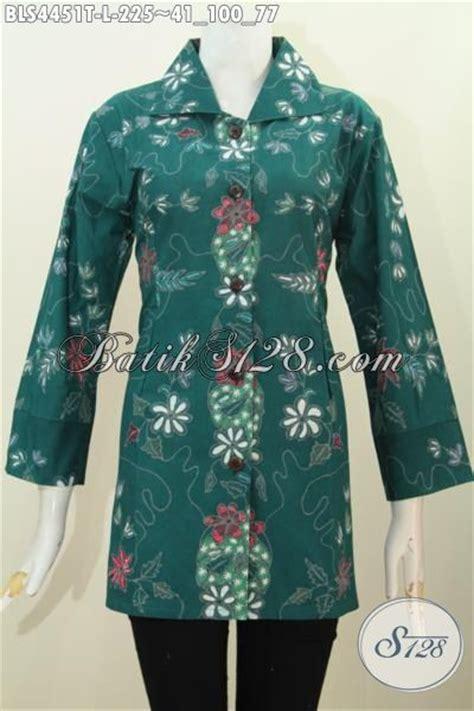 Jual Baju Wearpack Warna Hijau Size L Murah jual baju batik kerah kotam motif trend masa kini proses tulis blus batik formal warna hijau