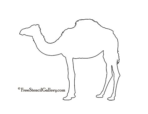 dromedary camel silhouette stencil clipart pinterest