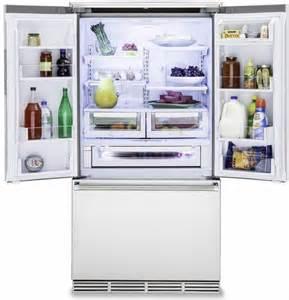 Viking Counter Depth French Door Refrigerator - rvrf336ss viking 36 quot counter depth freestanding french door refrigerator with premium air