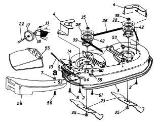 mtd ranch king deck diagram needed