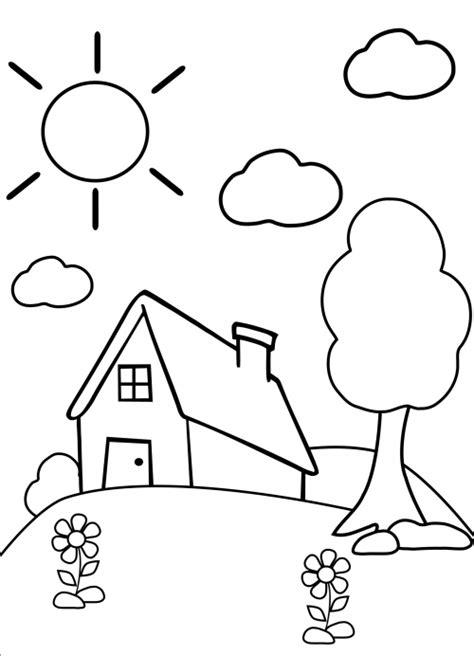 Preschool Coloring Page – Home - KidsPressMagazine.com