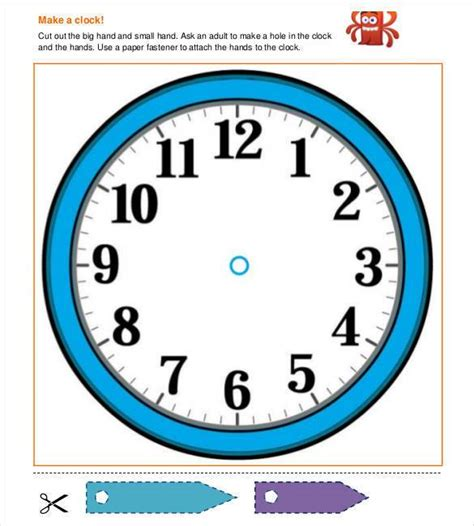 printable clock template with hands printable clock templates 17 free word pdf format