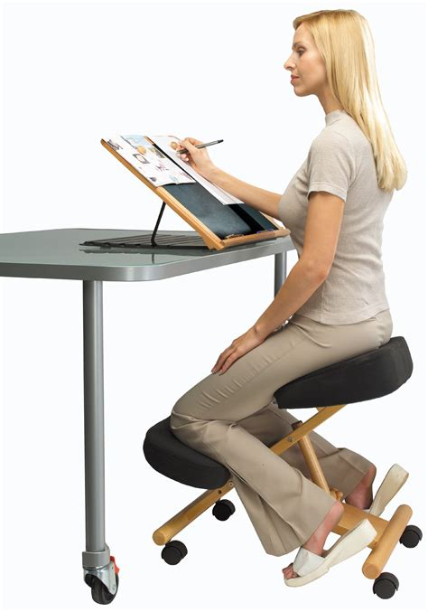 kneeling posture chair putnams posture chair kneeling for office and home new ebay