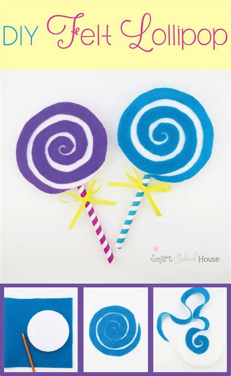 lollipop craft lollipop a felt craft tutorial smart school house