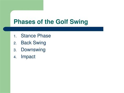 golf swing phases ppt kinesiology of a full golf swing powerpoint