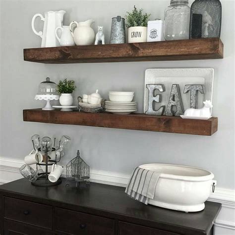 17 best ideas about floating shelves kitchen on