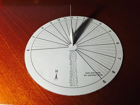 How To Make A Sundial With A Paper Plate - a paper sundial in 15 minutes mach 30