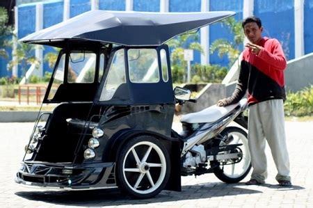 Modifikasi Vespa Becak by Modifikasi Becak Motor Sarana Transportasi Modern