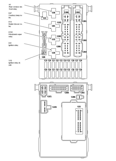 1998 ford contour fuse box diagram 98 ford contour fuse box location get free image about