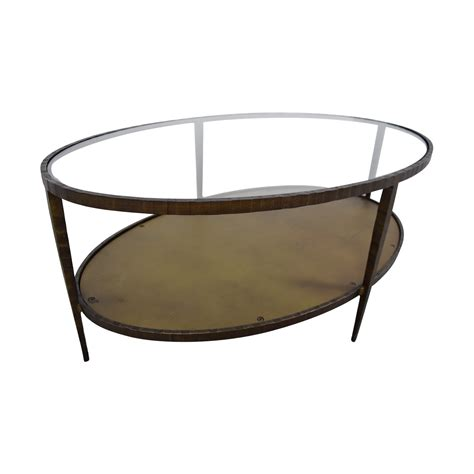 76 Off Crate Barrel Crate Barrel Clairemont Oval Crate And Barrel Clairemont Coffee Table