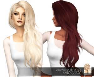 cc hair for sism4 my sims 4 blog anto glare hair retexture in 64 colors by