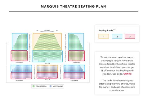 marquis theatre seating map marquis theatre seating chart escape to margaritaville