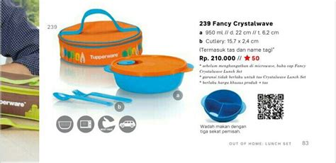 Baru Tupperware Fancy Crystalwave Lunch Set jual beli fancy crystalwave lunch set tupperware baru