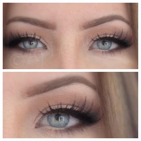 Eyeliner Silky soft bridal makeup wedding makeup eye makeup eye liner false lashes blue by aj