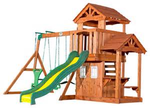 Backyard Discovery All Cedar Playset Backyard Discovery Tanglewood All Cedar Wood Playset