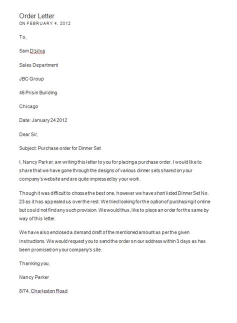 order letter format free sle letters page 16 of 18 format exles and