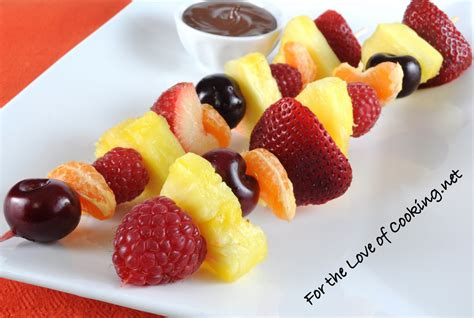 fruit kebabs fruit kebabs with melted chocolate for the of cooking