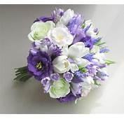Freesia Eustoma Tulip Rose Lavender Bridal Bouquet