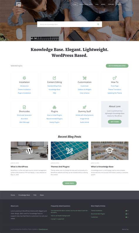 wordpress themes live preview lore elegant knowledge base wordpress theme by